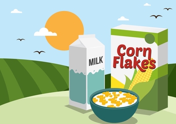 Vector Corn Flakes - vector gratuit #327567