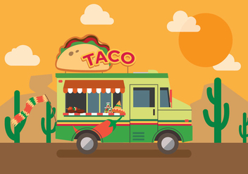 Vector Taco Truck - бесплатный vector #327617
