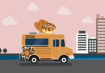 Vector Bakery Truck - Free vector #327637