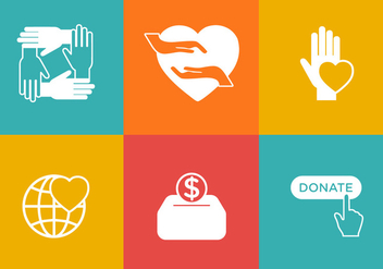 Vector Donation Icon Set - Kostenloses vector #327647
