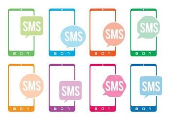 Sms icon vectors - vector gratuit #327697
