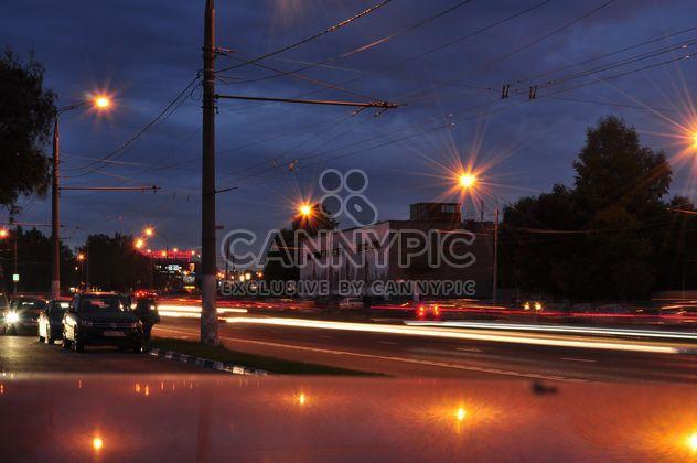 Calle de Moscú de noche -  image #327767 gratis
