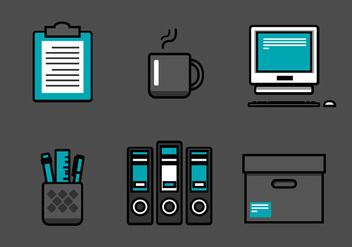 Vector Office Icon Set - Free vector #327957