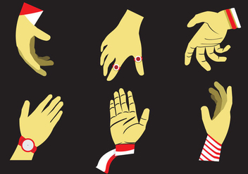 Hand Reaching Vector Illustration - Free vector #328307