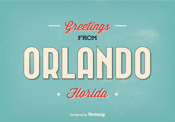 Orlando Florida Greeting Illustration - vector gratuit(e) #328317