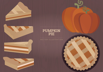 Pumpkin Pie Vector Illustration - vector gratuit #328327