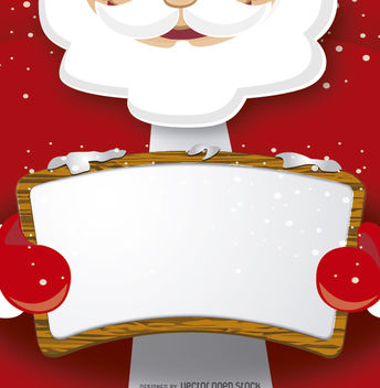 Santa Claus with message board - vector gratuit #328367