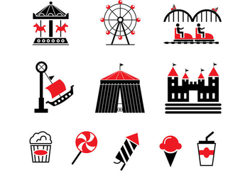 County Fair Vector Icons - Free vector #328747