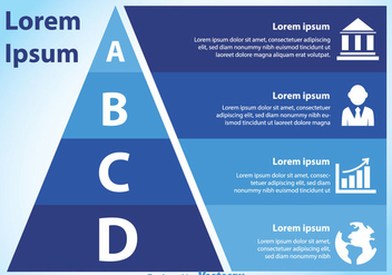Blue Pyramid Chart - vector gratuit #328937