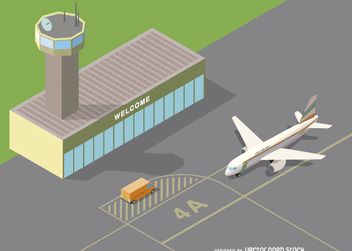 Isometric Airport - Free vector #328977