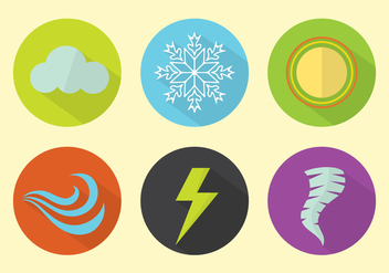 Weather Vector Icons - vector gratuit #329317