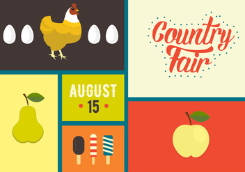 Vector Illustration of Country Fair Symbols - Free vector #329357