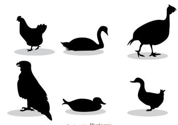 Fowl Black Silhouette - Free vector #329367