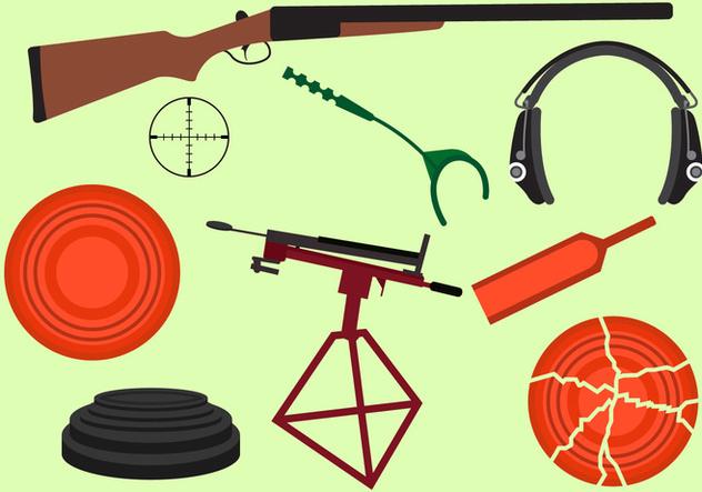 Set Of Clay Pigeon Equipment Free Vector Download 329397 ...
