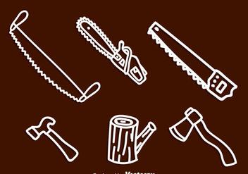Lumberjack White Icons - Free vector #329497