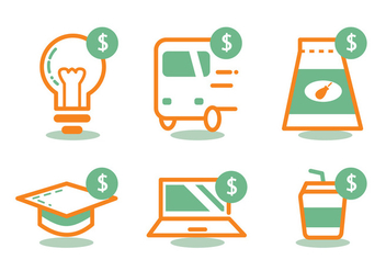 Time Is Money Icon Set - Free vector #329507
