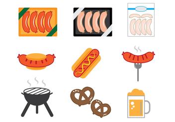 Bratwurst Icons - Free vector #329517