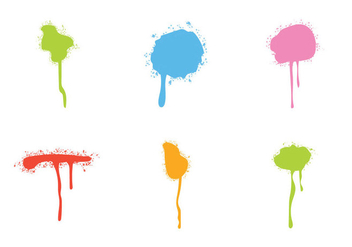 Free Sparypaint Drips Vector set - Free vector #329677
