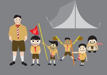 Boy Scout Vectors - Free vector #329687