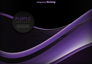 Abstract purple wave vector - бесплатный vector #329787