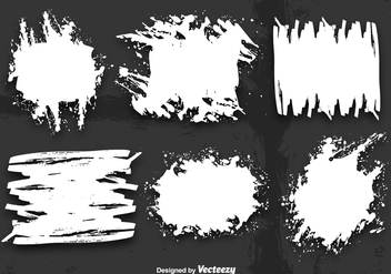 White grunge banner vectors - Free vector #329797