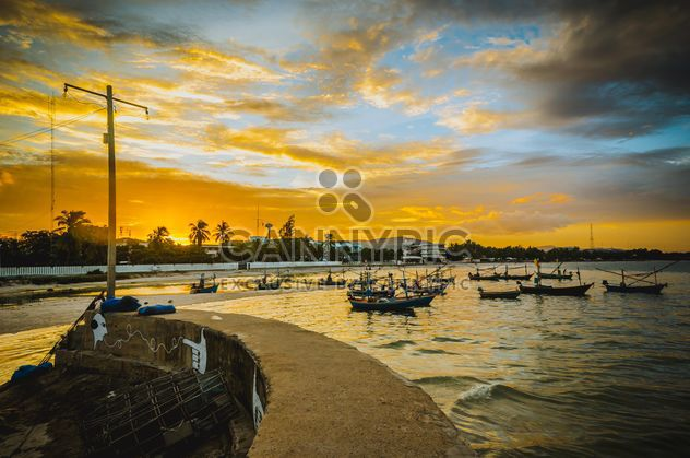 Harbor at sunset - Free image #329957