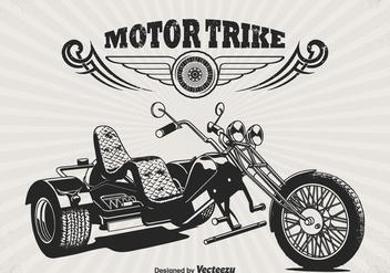 Free Retro Motor Trike Vector Poster - Kostenloses vector #330037
