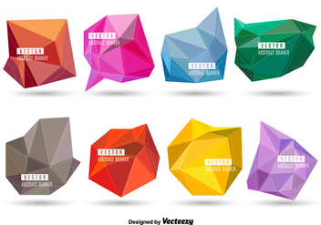 Polygonal banners - Kostenloses vector #330157
