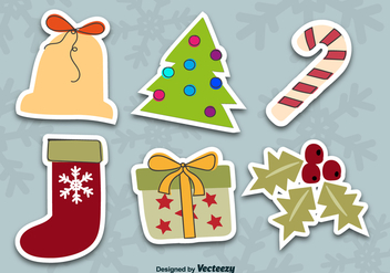 Christmas stickers - Free vector #330167