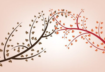 Heart Leaves Tree Branches - vector gratuit #330177