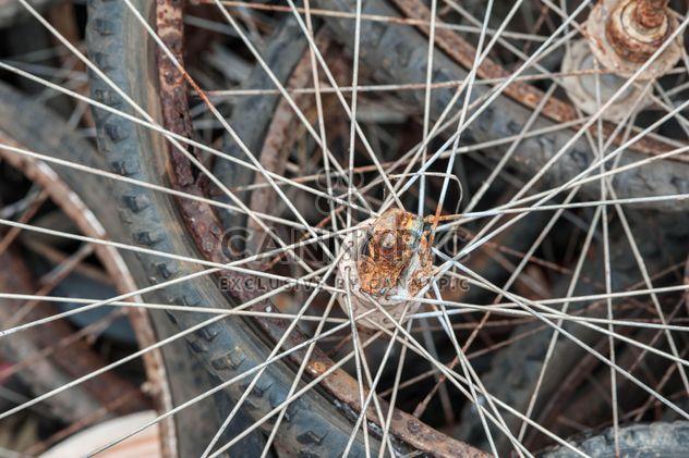 Old bicycle wheels - Free image #330377