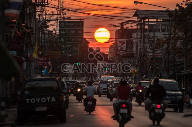 Sunset in the city thoroughfares - Free image #330387