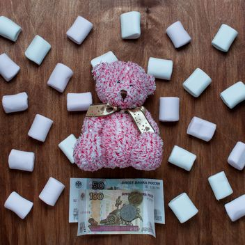 Teddy bear and marshmallows - бесплатный image #330727