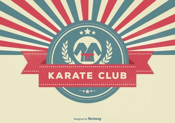 Retro Style Karate Club Illustration - Free vector #331227