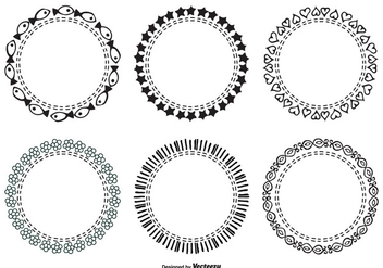 Cute Hand Drawn Frame Set - Free vector #331247