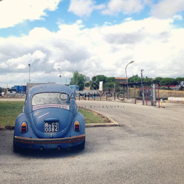 Vieille voiture bleue - image gratuit #331527
