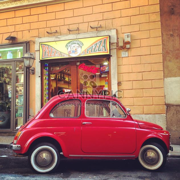 Old red Fiat 500 car - Free image #331747