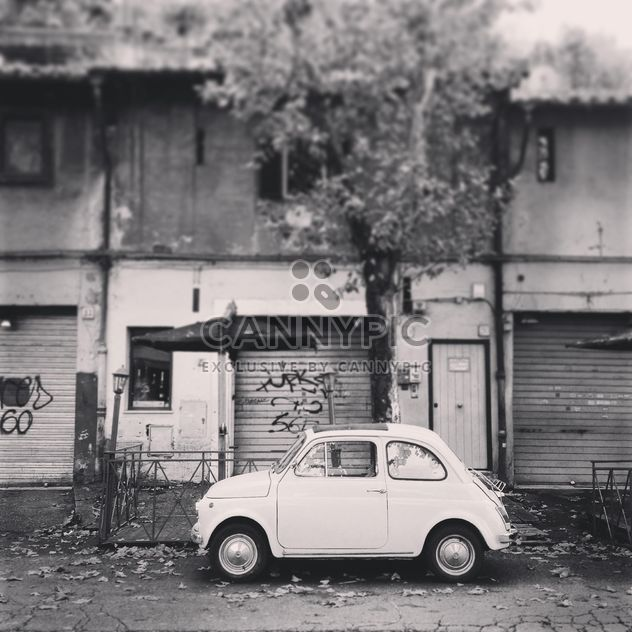 Old white Fiat 500 car - Free image #331777