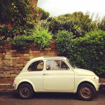 White Fiat 500 - image gratuit #331947