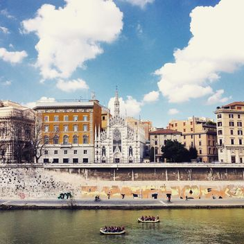 Architecture of Rome on embankment of river - бесплатный image #332177