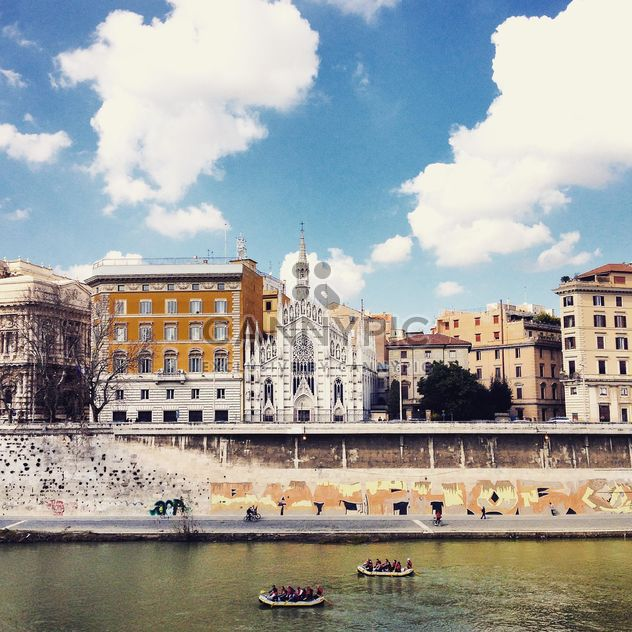 Architecture of Rome on embankment of river - Free image #332177