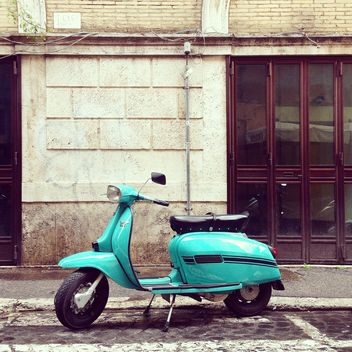 Retro blue Lambretta scooter - бесплатный image #332287