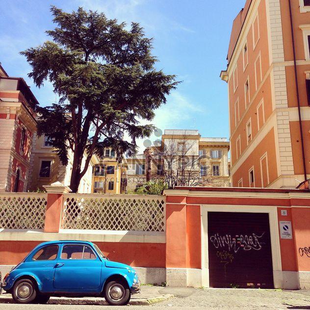 Ретро синий Fiat 500 - бесплатный image #332327