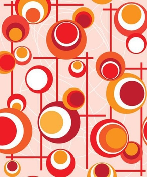 Red Orange Circles Lines Pattern - Kostenloses vector #332417