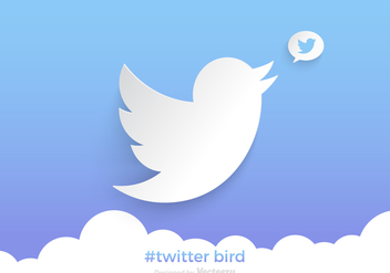 Free Twitter Bird Vector Background - Free vector #332557