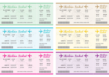 Airline Tickets - vector gratuit #332637