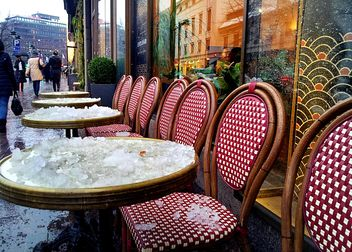 Outdoor cafe in winter - image #332797 gratis