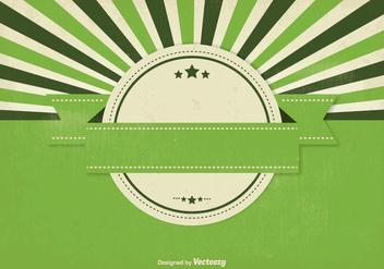 Blank Retro Style Sunburst Background - Free vector #333027