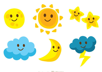Cute Characters Sky Icons - Free vector #333037