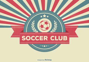 Retro Style Soccer Club Illustration - Kostenloses vector #333047